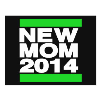 New Mom 2014 Green Postcard
