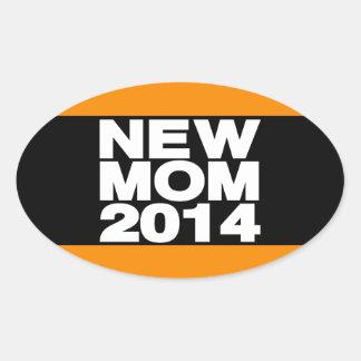 New Mom 2014 Lg Orange Oval Sticker