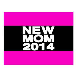 New Mom 2014 Lg Pink Postcard