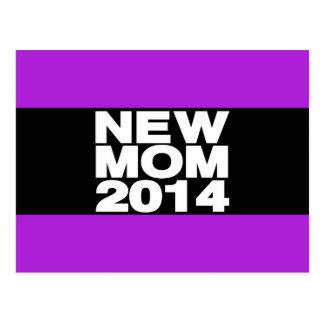 New Mom 2014 Lg Purple Postcard