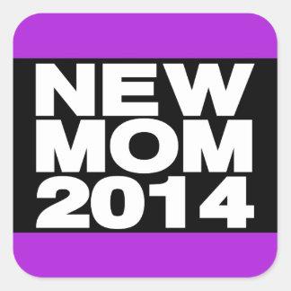New Mom 2014 Lg Purple Square Sticker