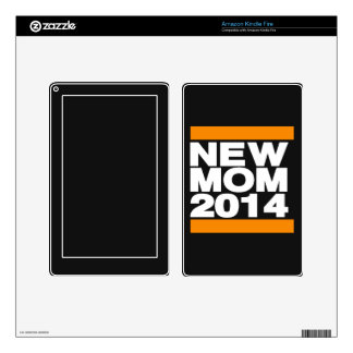 New Mom 2014 Orange Kindle Fire Decals
