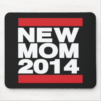 New Mom 2014 Red Mouse Pad