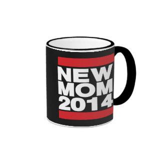 New Mom 2014 Red Ringer Mug
