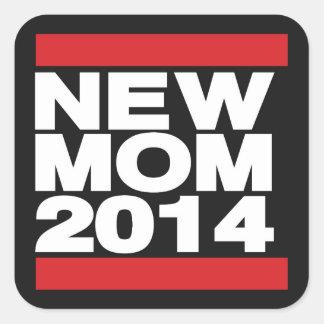 New Mom 2014 Red Square Sticker
