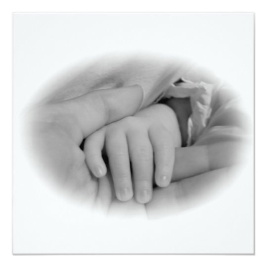 New Mom and Baby Holding Hands Photo Card