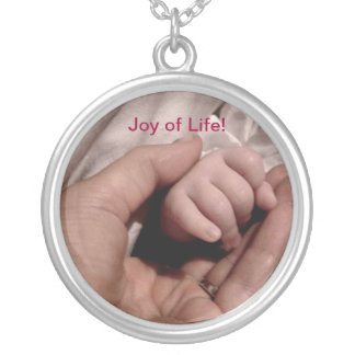 New Mom and Baby - Joy of Life Silver Plated Necklace