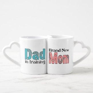 New Mom and Dad Couples Mug Set