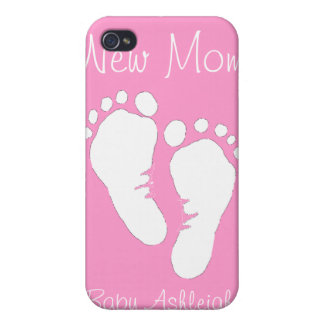 New Mom - Baby Girl iPhone 4 Cases