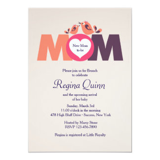 New Mom Baby Shower Invitation