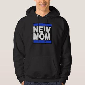 New Mom Blue Hoodie