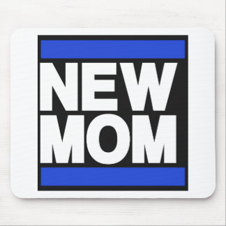 New Mom Blue Mouse Pad
