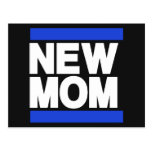 New Mom Blue Postcard