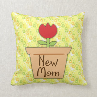New Mom, Cute Red Tulip Flower Pillows