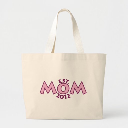 New Mom Est 2012 Large Tote Bag