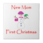New Mom First Christmas Ceramic Tile