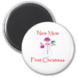 New Mom First Christmas Magnet