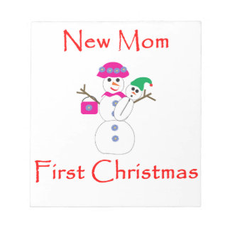 New Mom First Christmas Memo Notepad