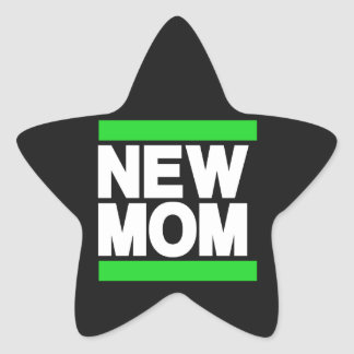 New Mom Green Star Sticker