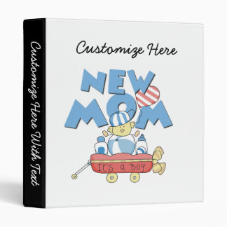 New Mom It's a Boy Gifts 3 Ring Binder