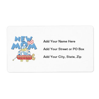 New Mom It's a Boy Gifts Shipping Label