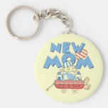 New Mom It's a Boy Tshirts and Gifts Basic Round Button Keychain