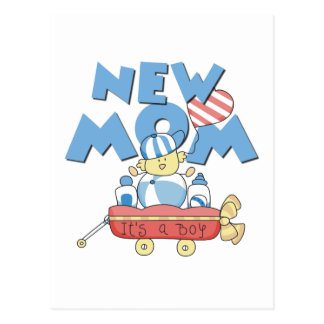 New Mom It's a Boy Tshirts and Gifts Postcard