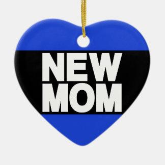 New Mom Lg Blue Ceramic Ornament