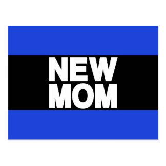 New Mom Lg Blue Post Card