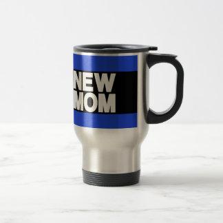 New Mom Lg Blue Travel Mug