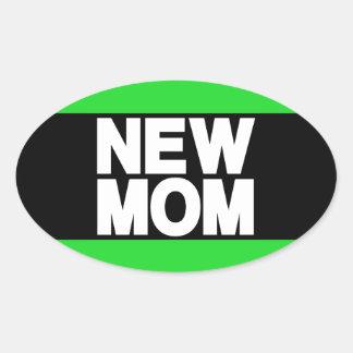 New Mom Lg Green Oval Sticker