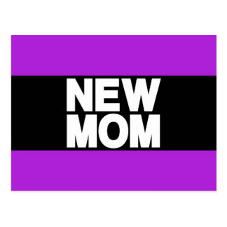 New Mom Lg Purple Post Cards