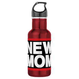 New Mom Lg Red 18oz Water Bottle
