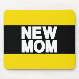 New Mom Lg Yellow Mouse Pad
