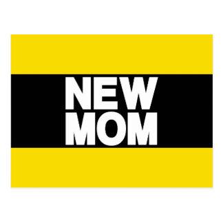 New Mom Lg Yellow Postcard