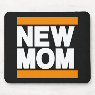 New Mom Orange Mouse Pad
