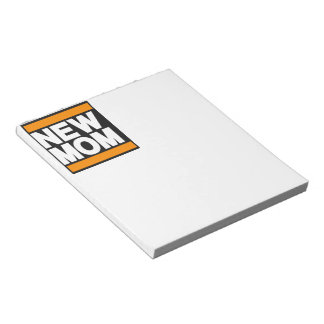 New Mom Orange Notepad