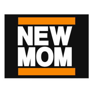 New Mom Orange Postcard