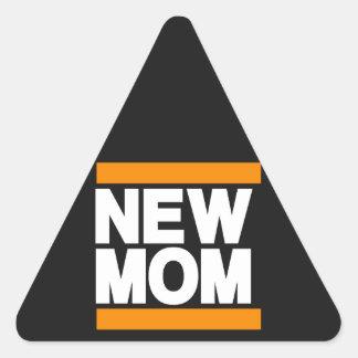New Mom Orange Triangle Sticker
