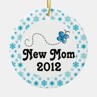 New Mom Personalized Snowflake Christmas Ornament