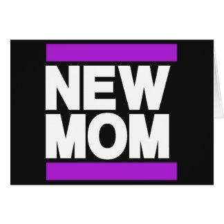 New Mom Purple Greeting Cards