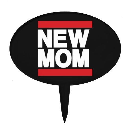 New Mom Red Cake Pick