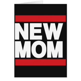 New Mom Red Greeting Card