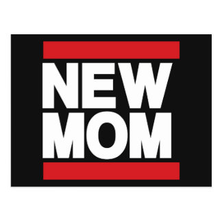 New Mom Red Postcard