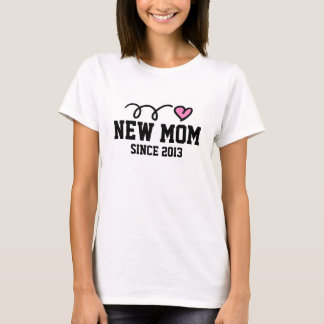 New Mom t shirt | Customizable year and text