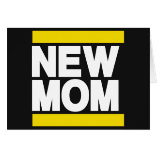 New Mom Yellow Greeting Cards