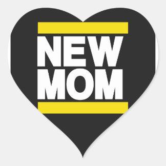 New Mom Yellow Heart Sticker