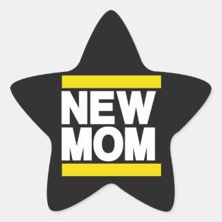 New Mom Yellow Star Sticker