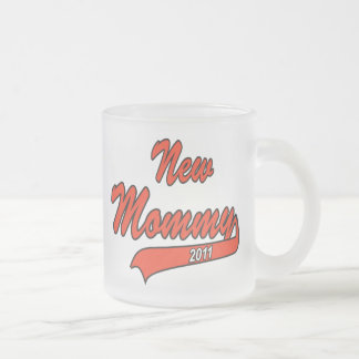 New Mommy 2011 Frosted Glass Coffee Mug