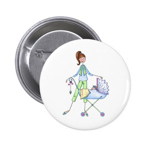New Mommy Baby Boy Stroller Buttons